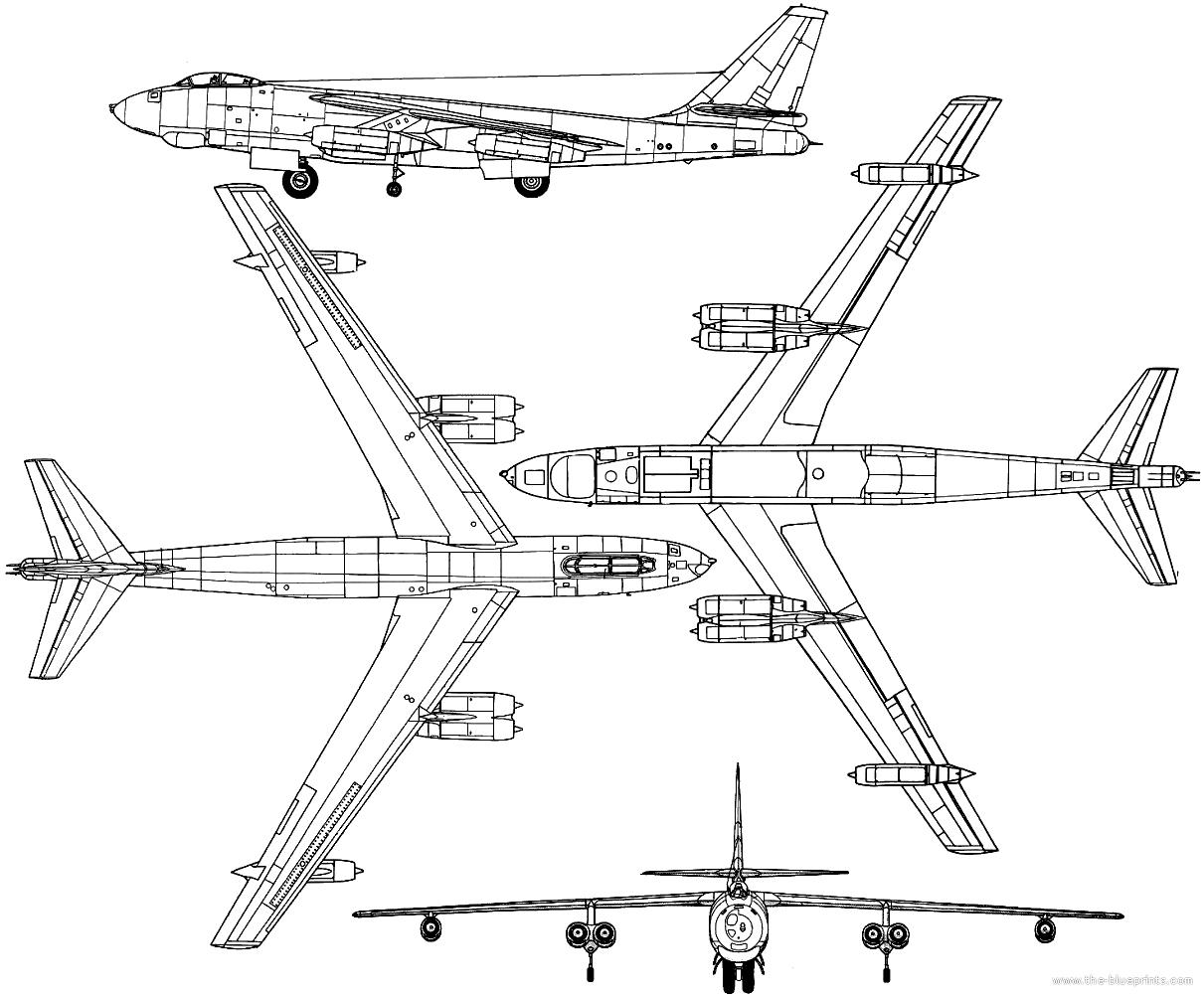 Blueprints Gt Modern Airplanes Gt Boeing Gt Boeing B 47e