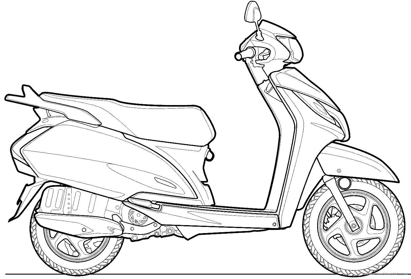 Blueprints Gt Motorcycles Gt Honda Gt Honda Activa 125