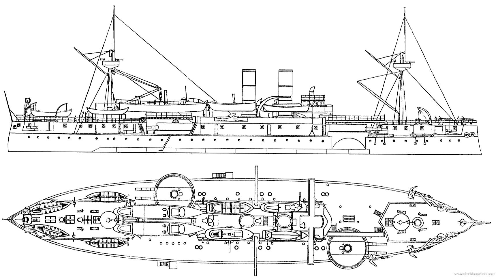 Blueprints Gt Ships Gt Ships Us Gt Uss Maine Battleship
