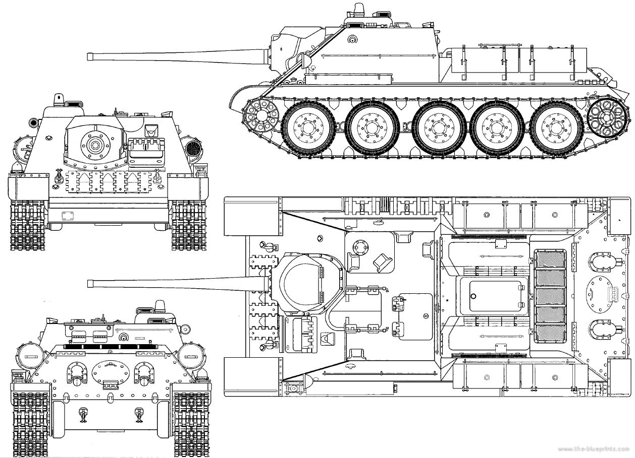 Blueprints Gt Tanks Gt Russian Tanks Gt Su 85