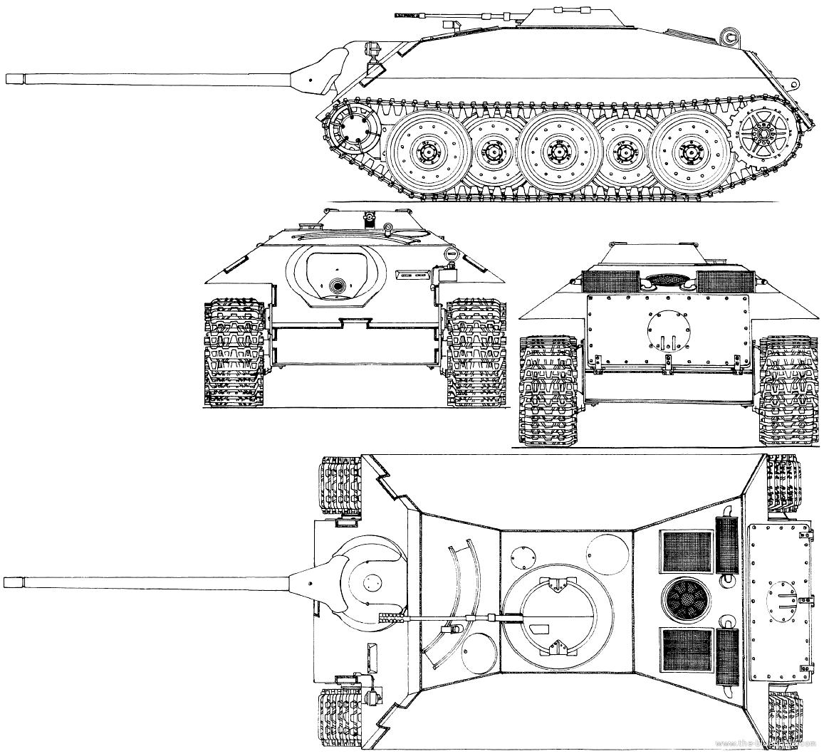 Blueprints Gt Tanks Gt Tanks D E Gt E 25 Jagdpanzer Entwicklung 25