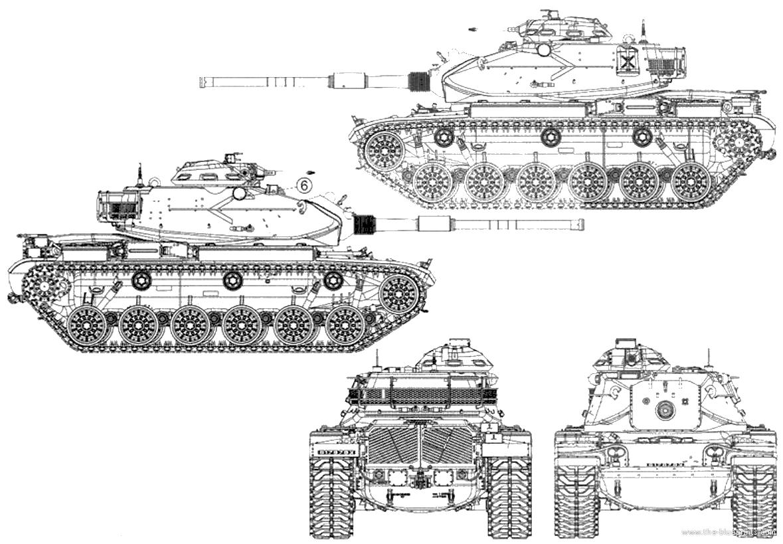 Blueprints Gt Tanks Gt Tanks M Gt M60a1 Patton