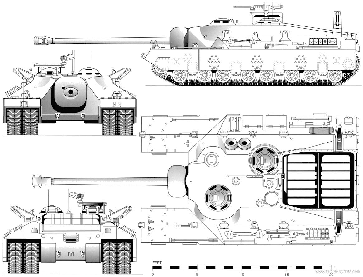 Blueprints Gt Tanks Gt Tanks T Gt T28 Super Heavy Tank T95