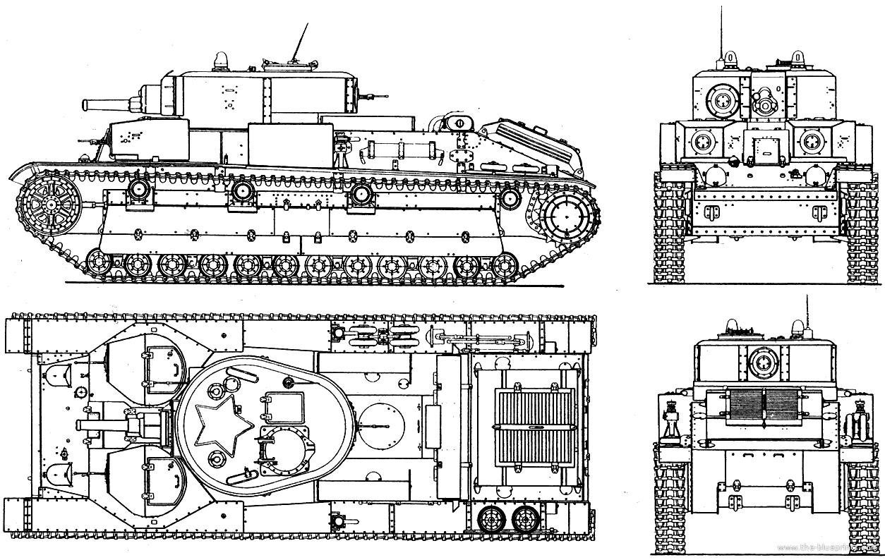 Blueprints Gt Tanks Gt Ww2 Tanks Soviet Union Gt T 28 Obr 38
