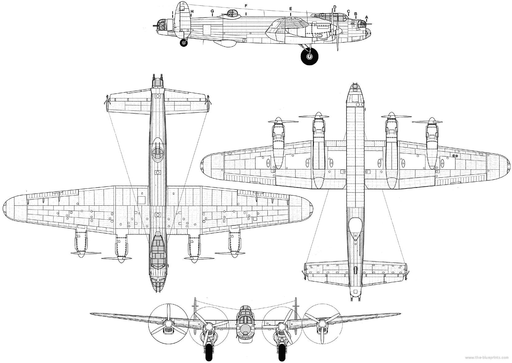 Blueprints Gt Ww2 Airplanes Gt Avro Gt Avro 683 Lancaster B 3