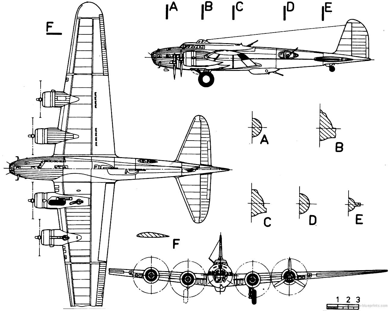 Blueprints Gt Ww2 Airplanes Gt Boeing Gt Boeing B 17c Flying