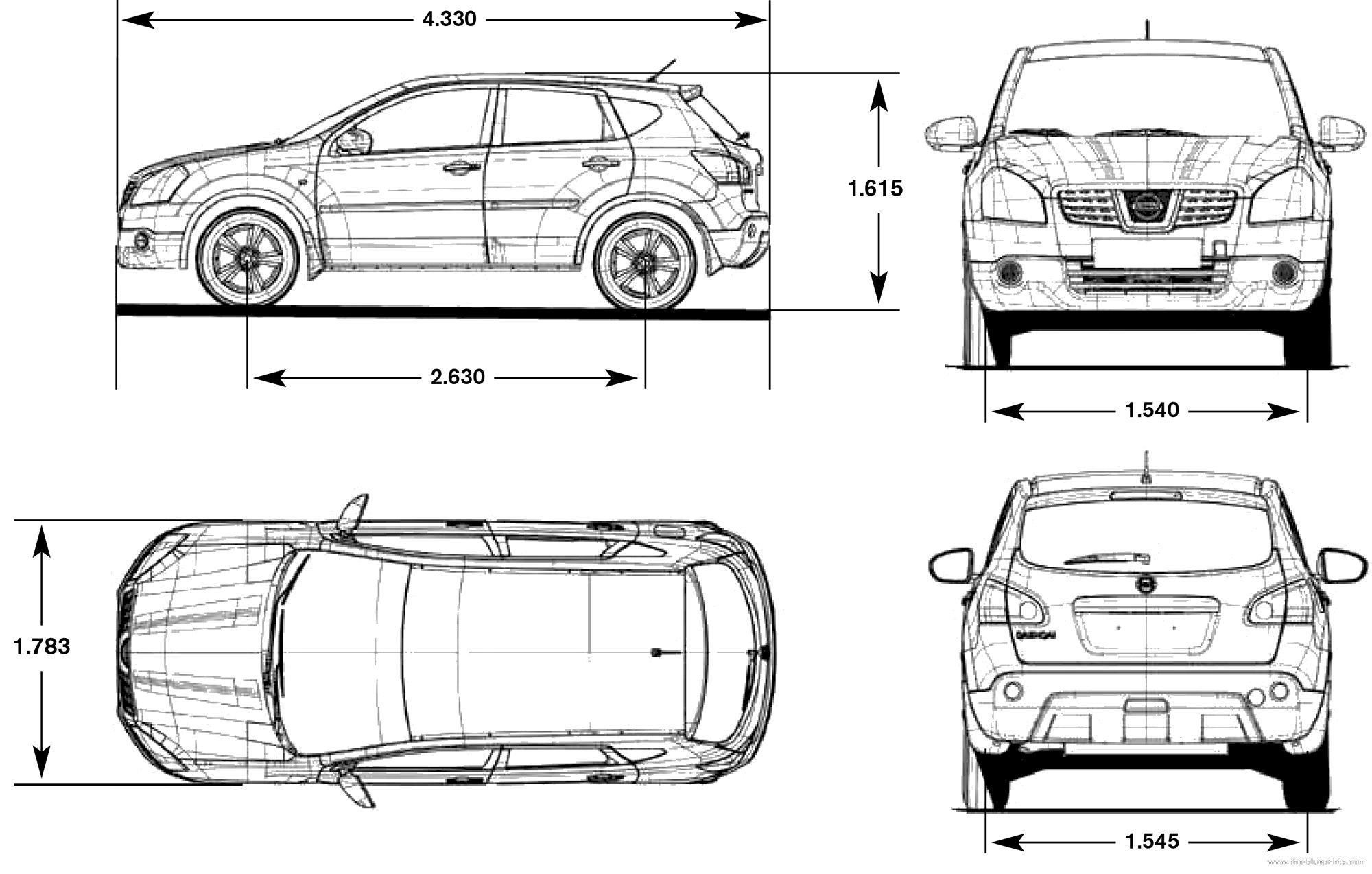 Dimensions Du Nissan Qashqai
