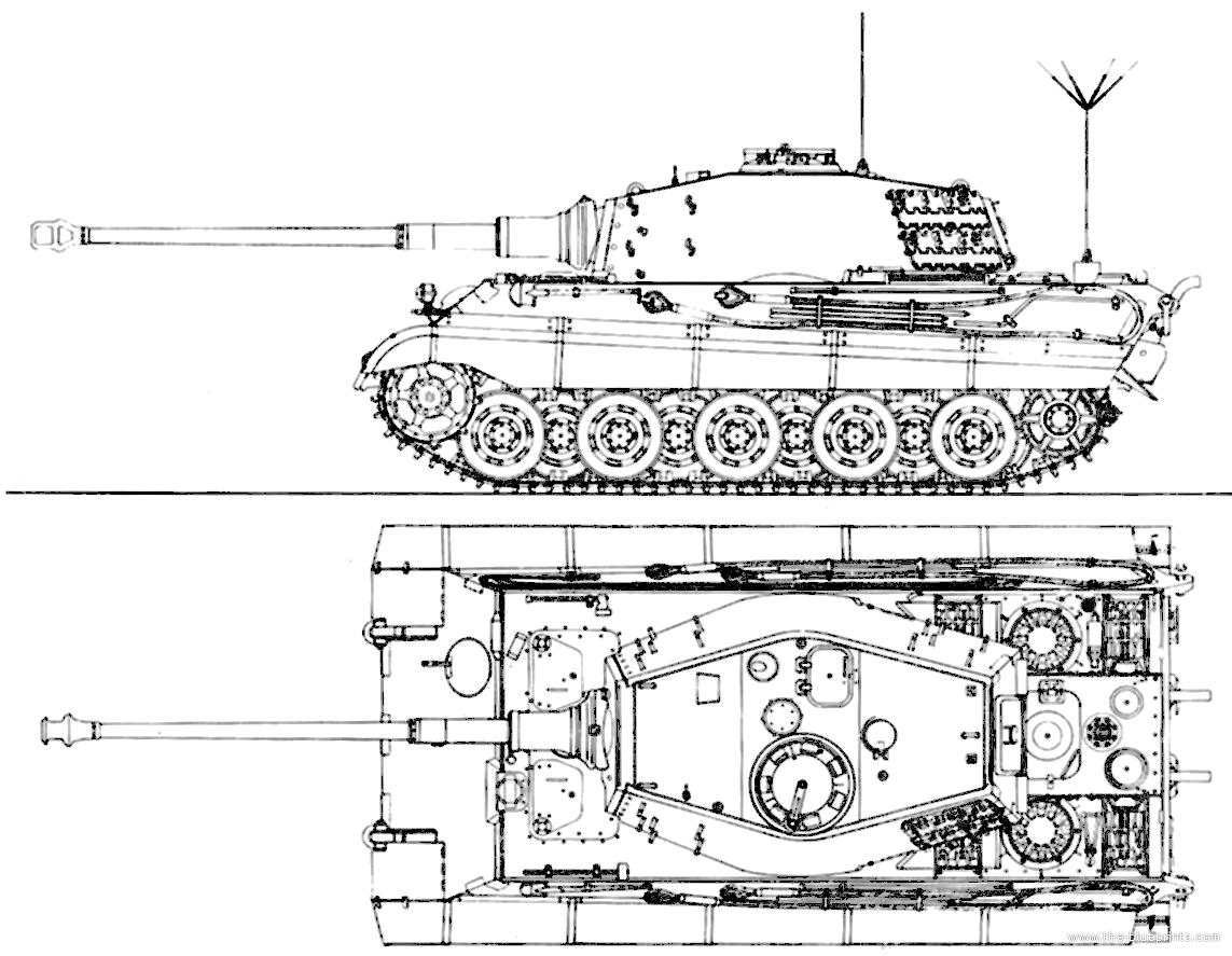 King Tiger Tank Blueprints