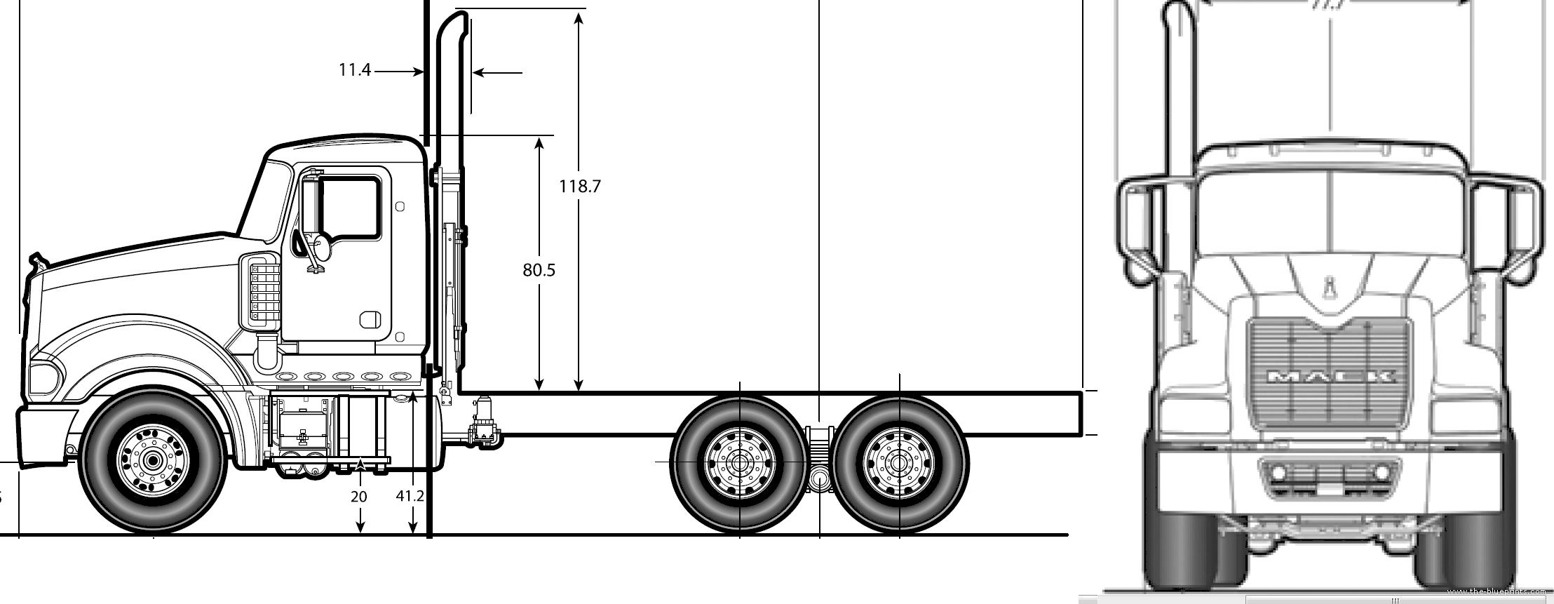 Mack Granite Tractor