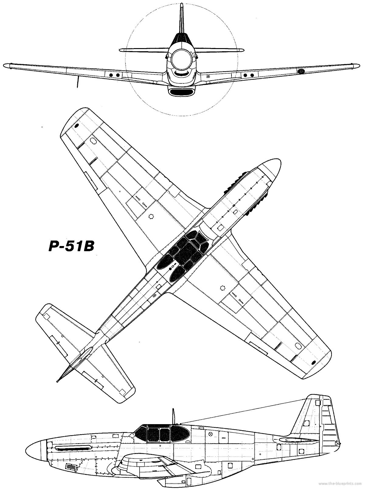 p 51b mustang