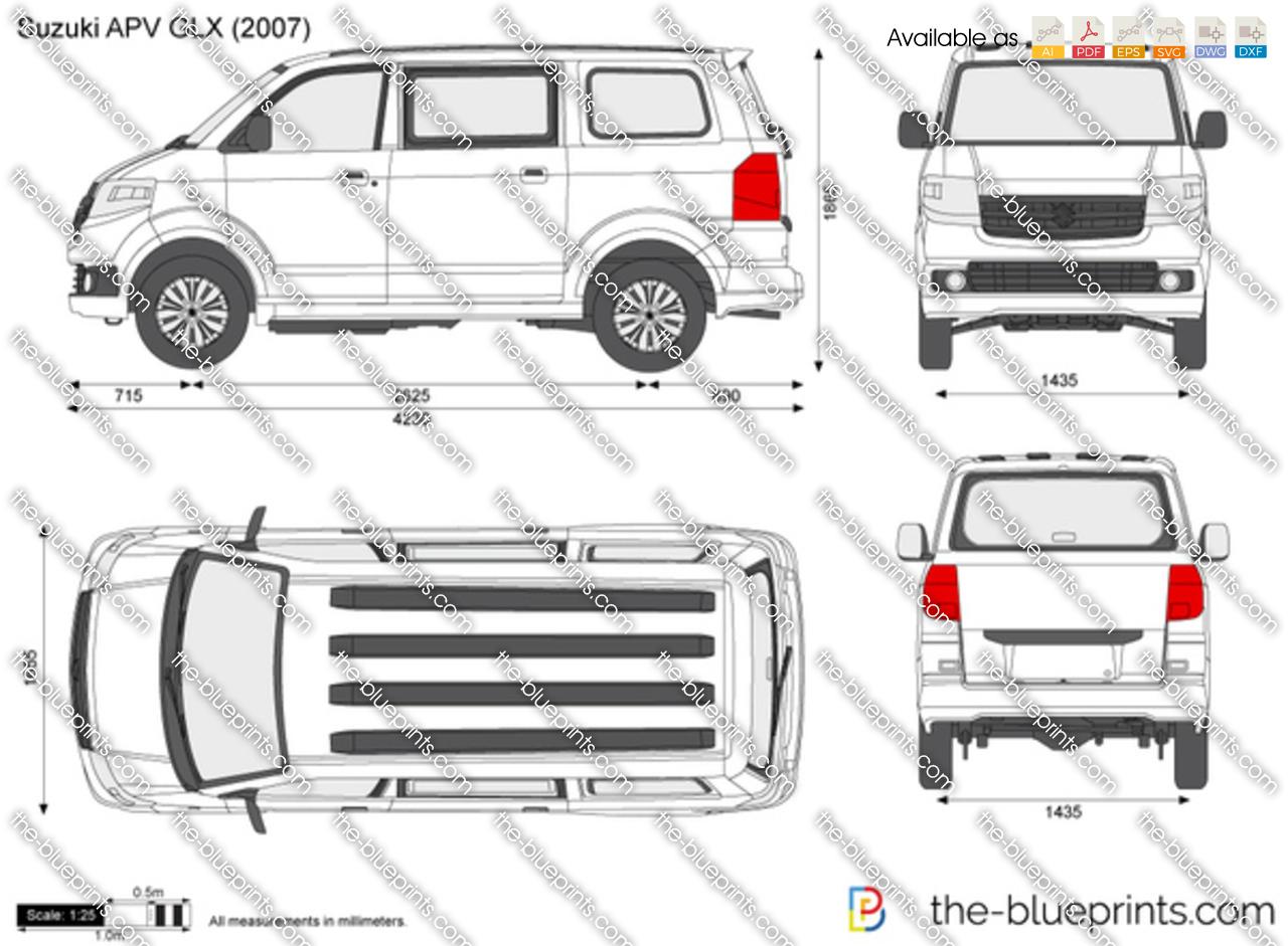 Suzuki Apv Glx Vector Drawing