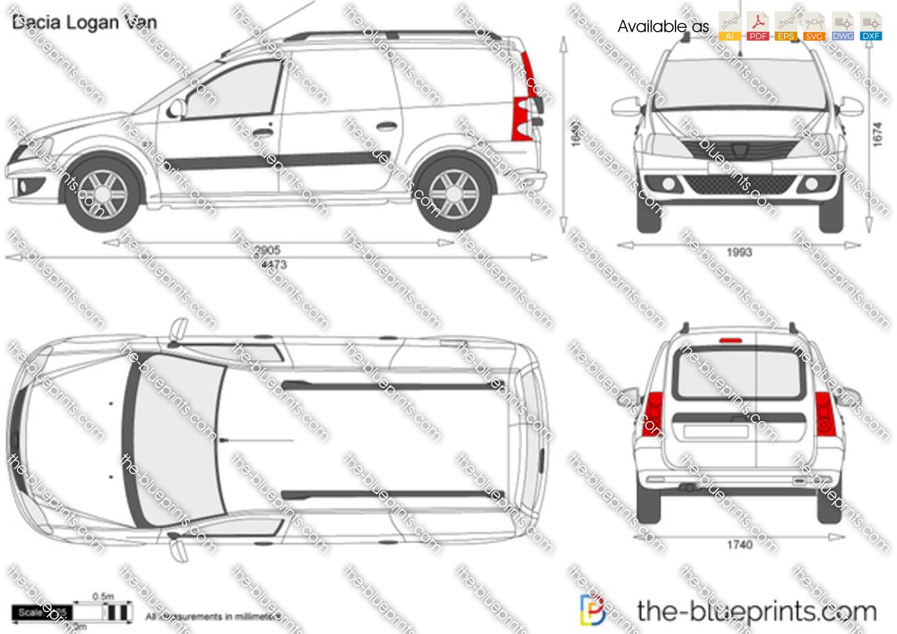 Dacia Logan Van Vector Drawing