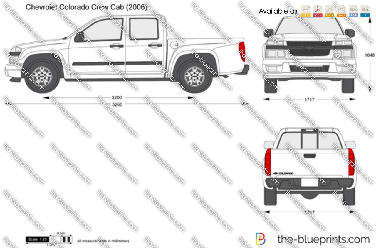 Chevrolet Colorado Crew Cab Vector Drawing