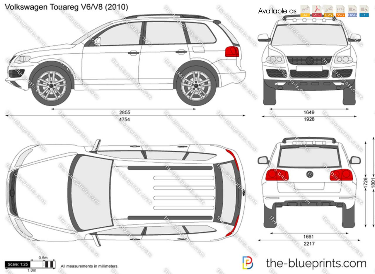 Volkswagen Touareg Vector Drawing