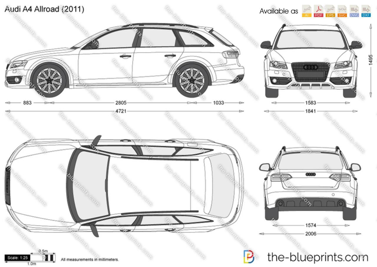 Audi A4 Allroad Vector Drawing