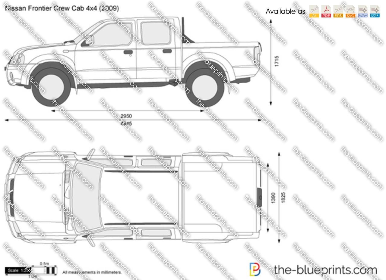 Nissan Frontier Crew Cab 4x4 Vector Drawing