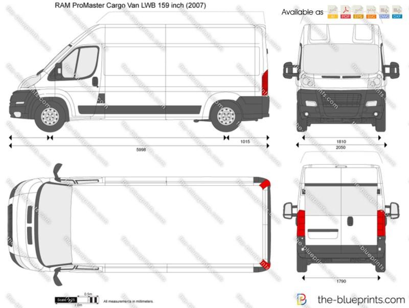 Ram Promaster Cargo Van Lwb 159 Inch