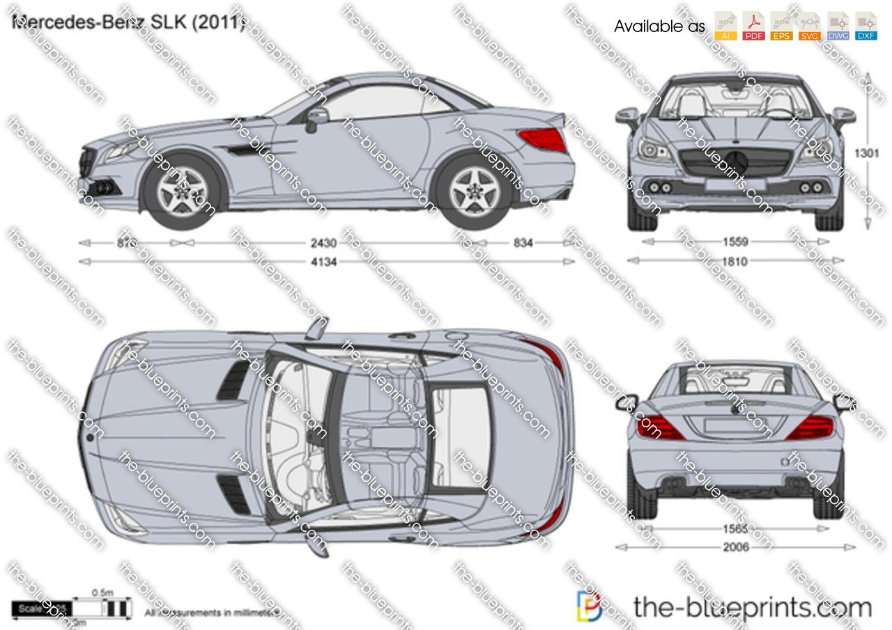 Mercedes Benz Slk R172 Vector Drawing