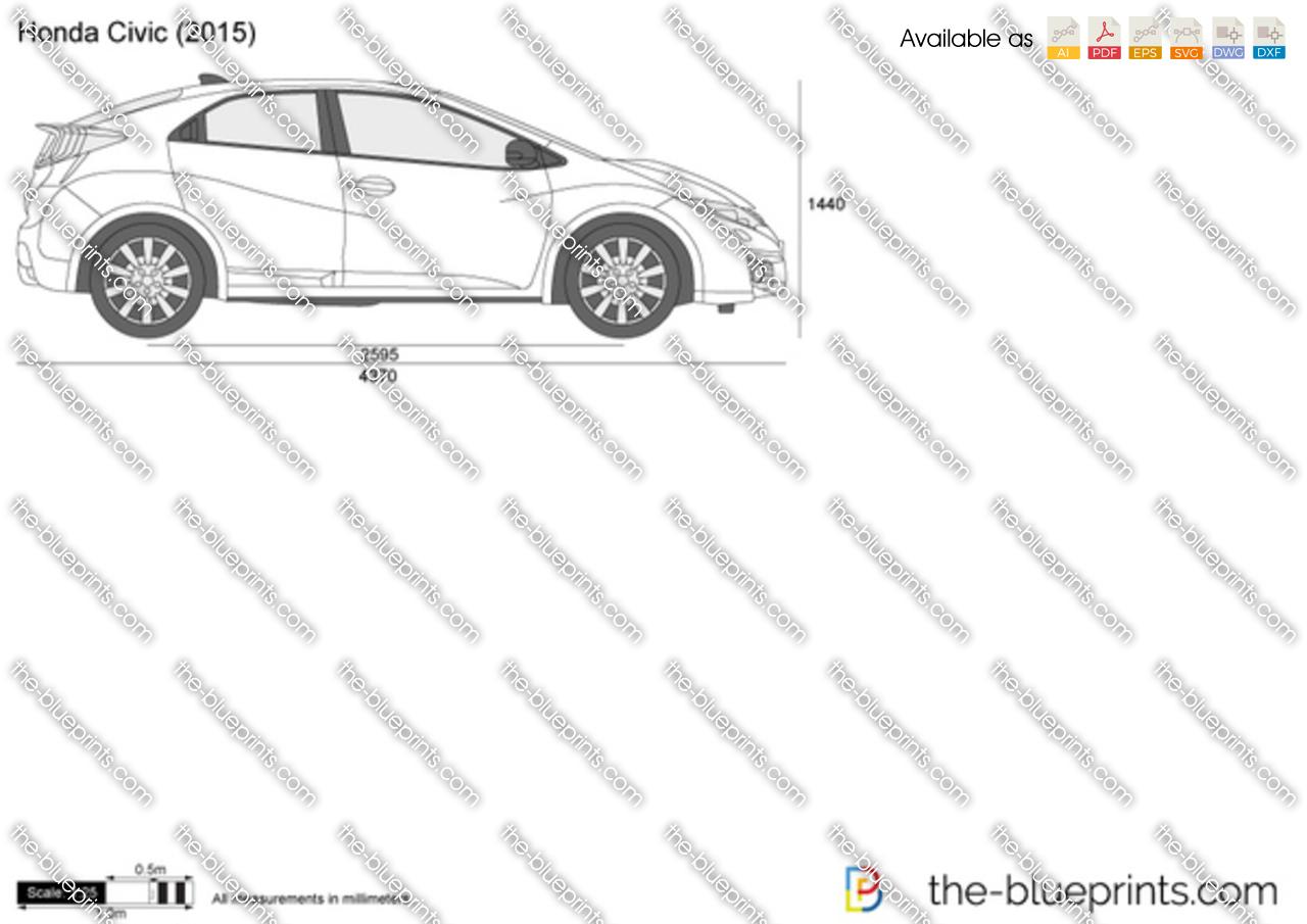 Honda Civic Vector Drawing