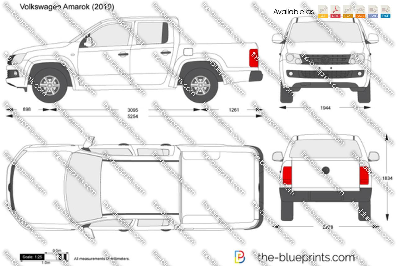 Volkswagen Amarok Vector Drawing
