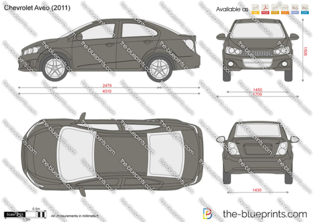 Chevrolet Aveo Vector Drawing