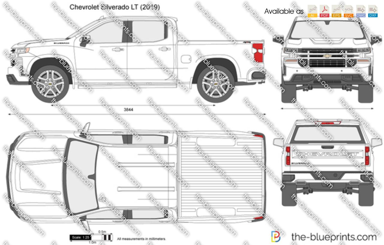 Chevrolet Silverado Lt Vector Drawing