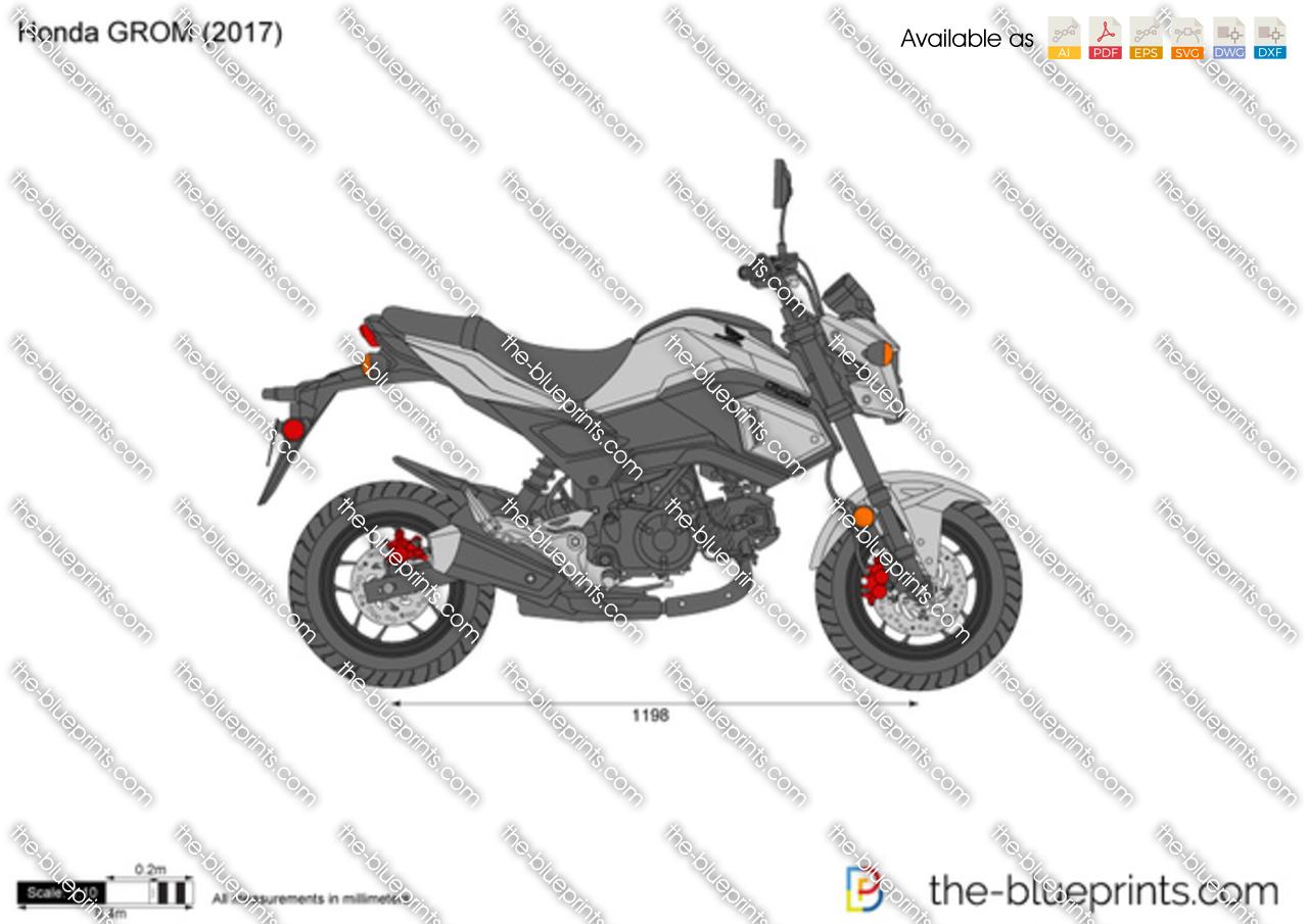 Honda Grom Vector Drawing