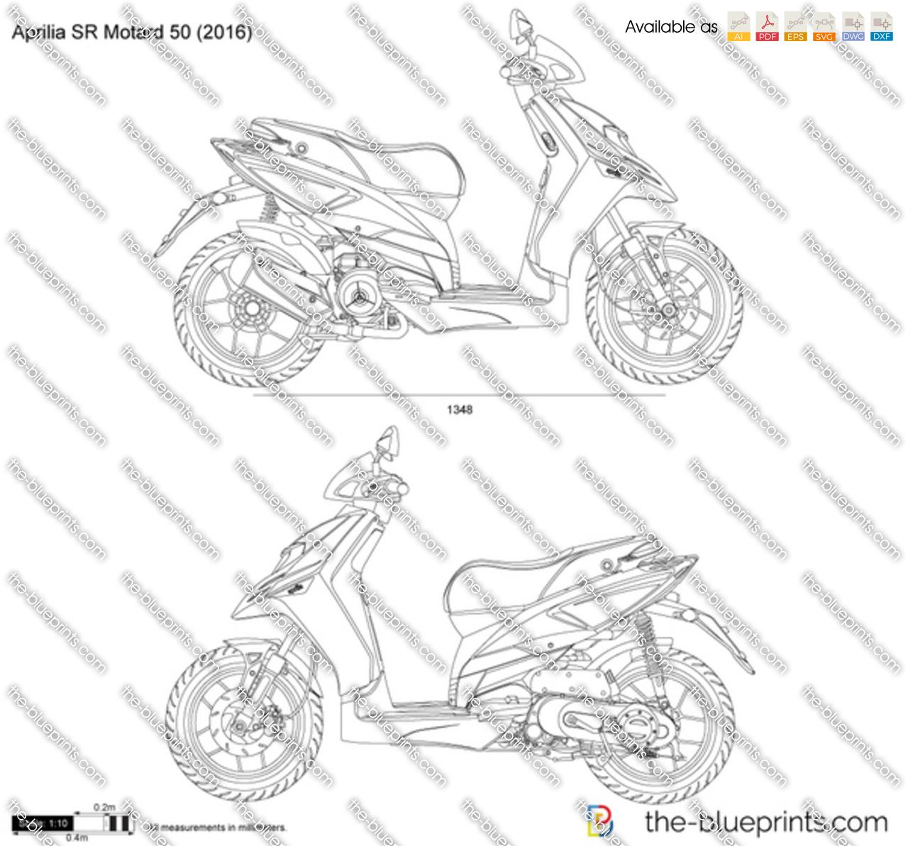 Aprilia Sr Motard 50 Vector Drawing