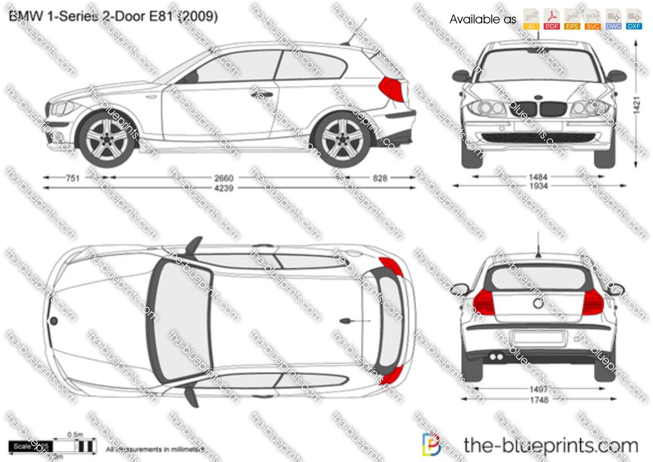 Bmw 1 Series 2 Door E81 Vector Drawing