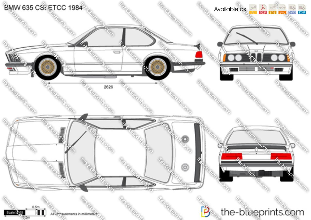 Bmw 635 Csi Etcc Vector Drawing