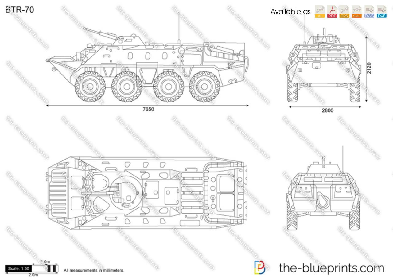 Btr 70 Vector Drawing