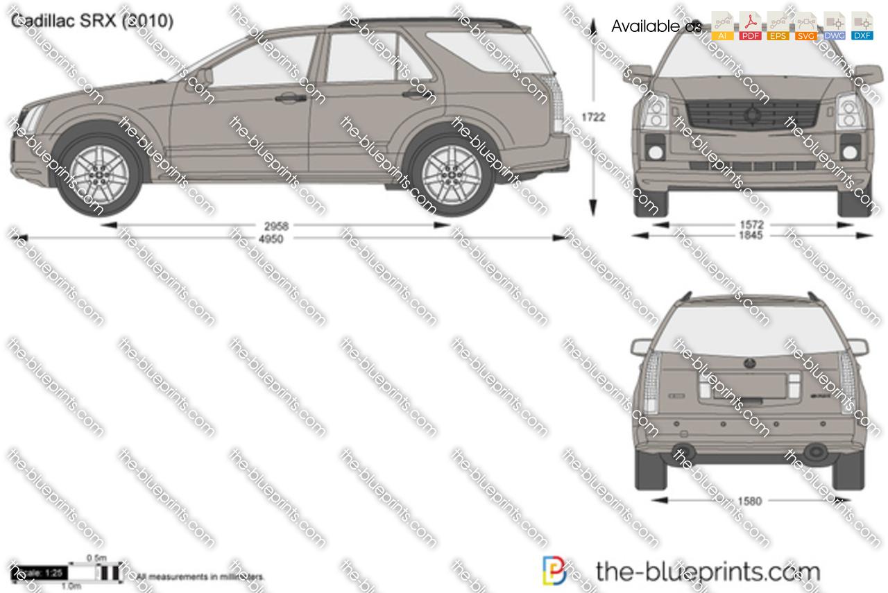 Cadillac Srx Vector Drawing