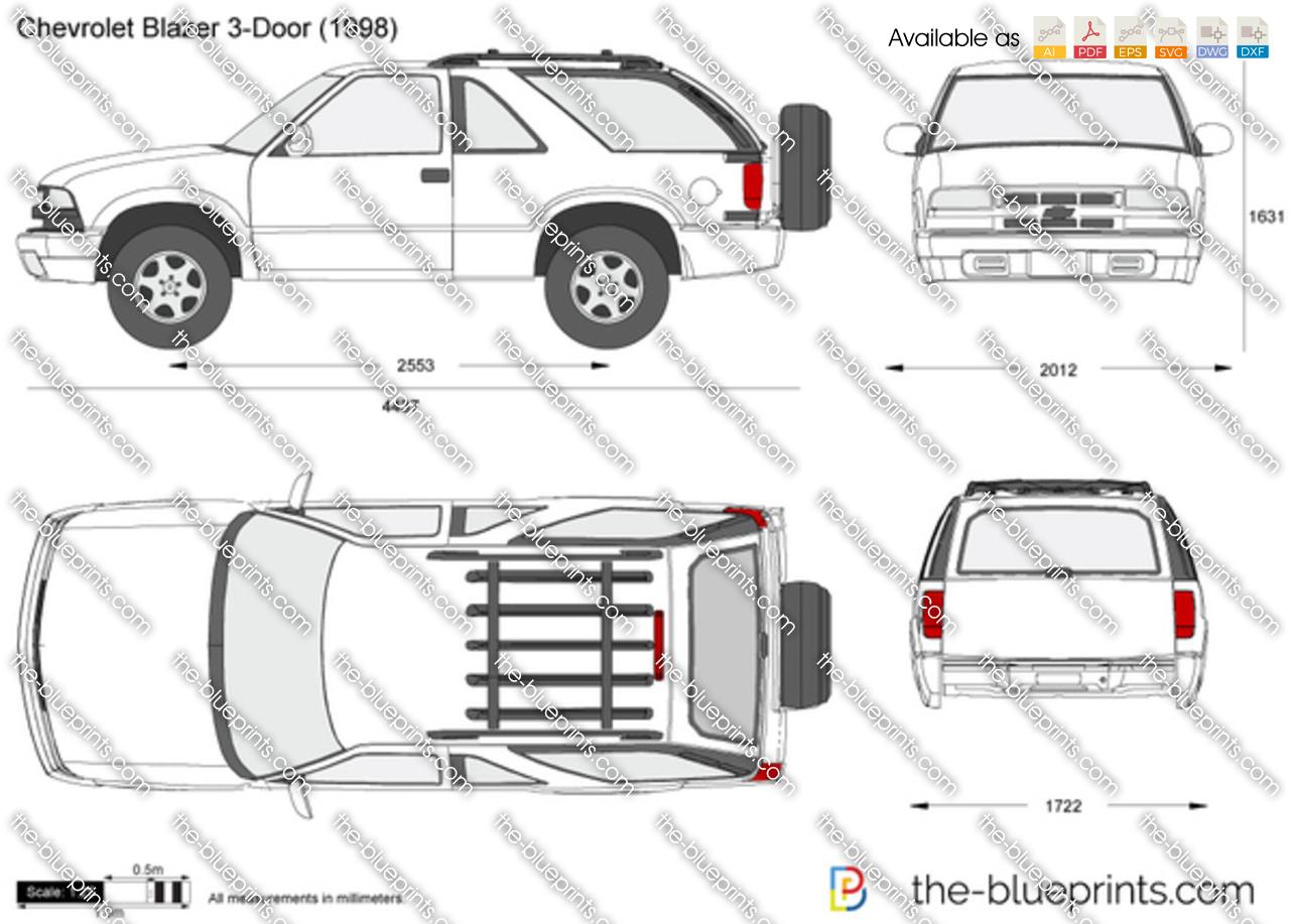 Chevrolet Blazer 3 Door Vector Drawing