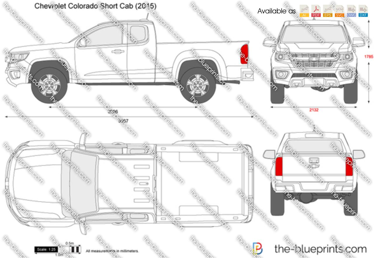 Chevrolet Colorado Short Cab Vector Drawing