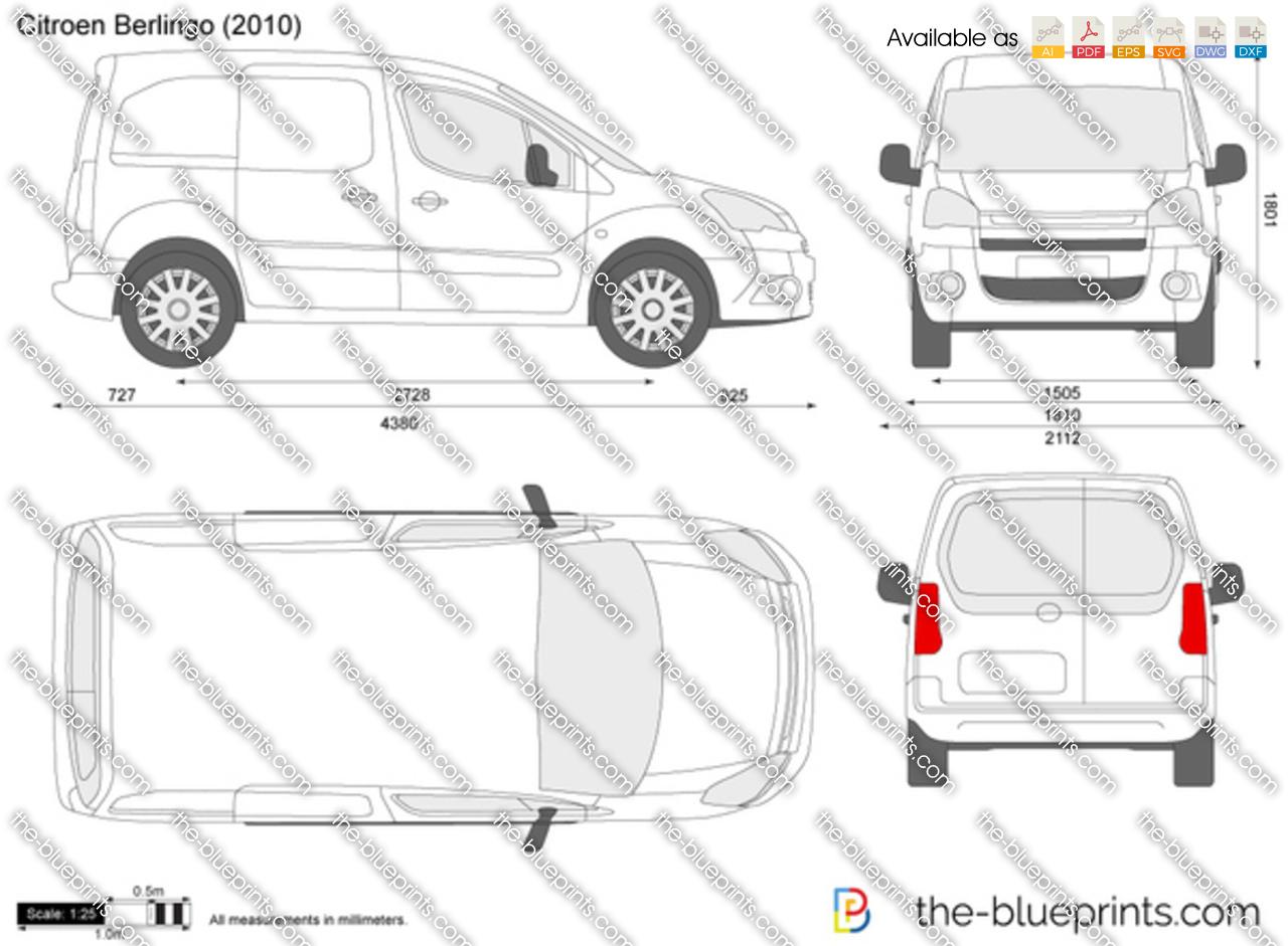 Citroen Berlingo Vector Drawing