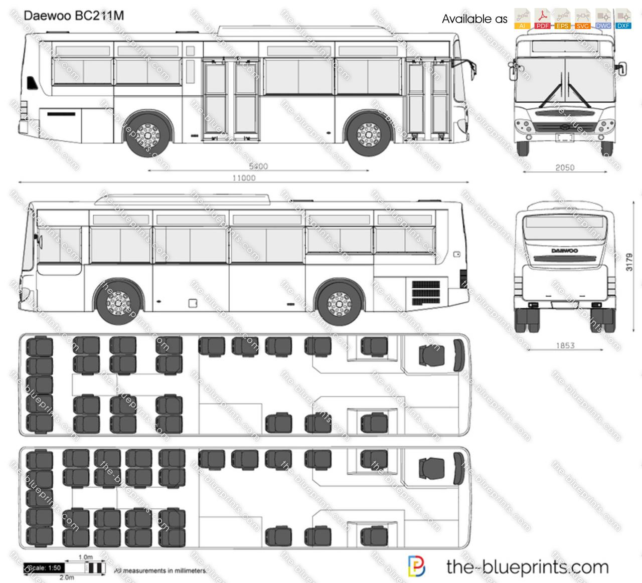 Daewoo Bc211m Vector Drawing