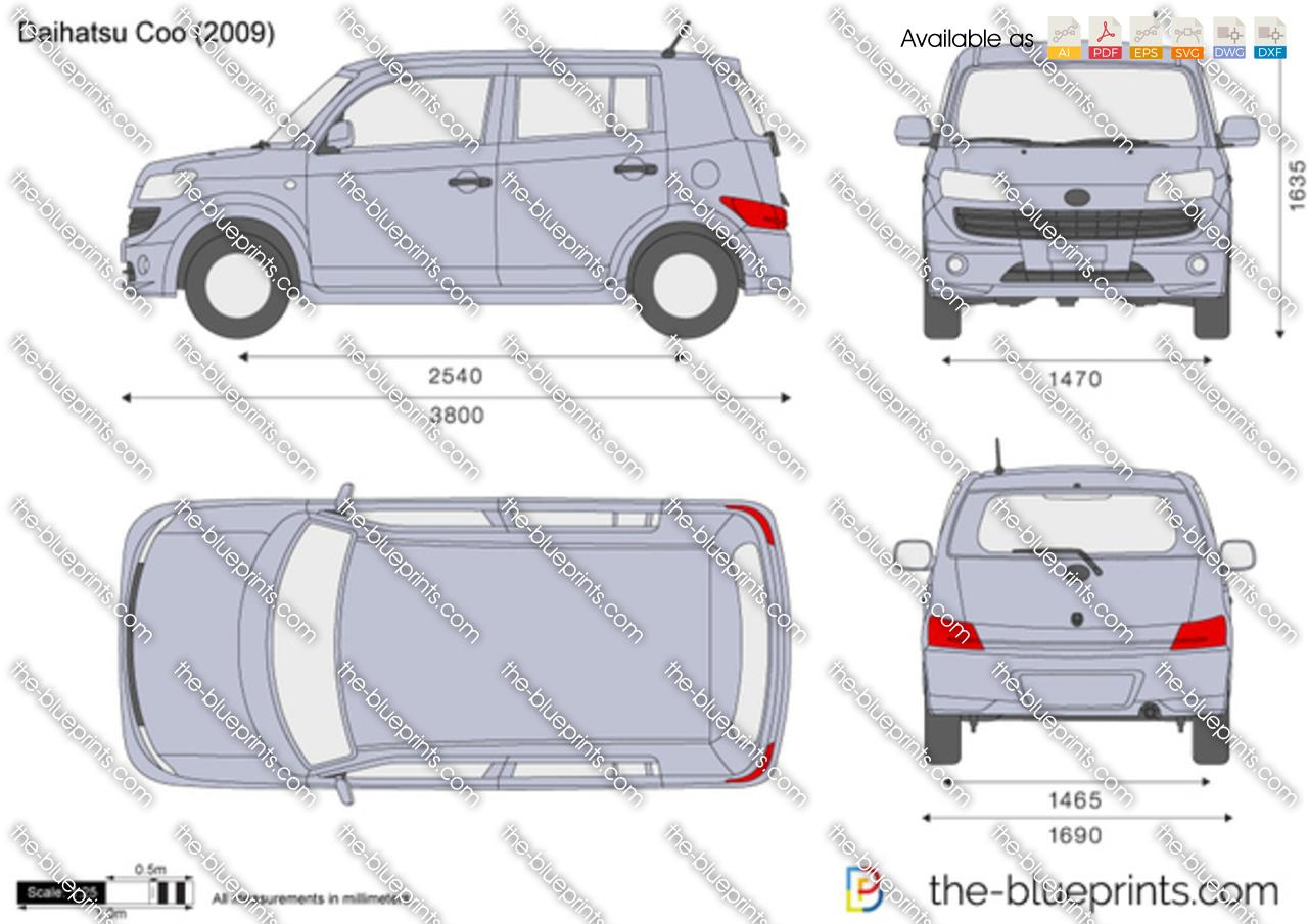 Daihatsu Coo Vector Drawing