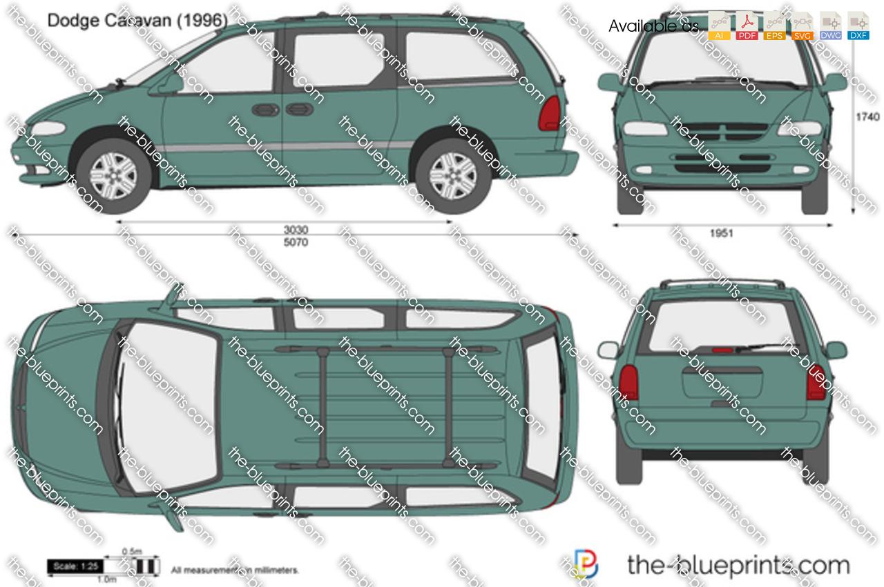 Dodge Caravan Vector Drawing