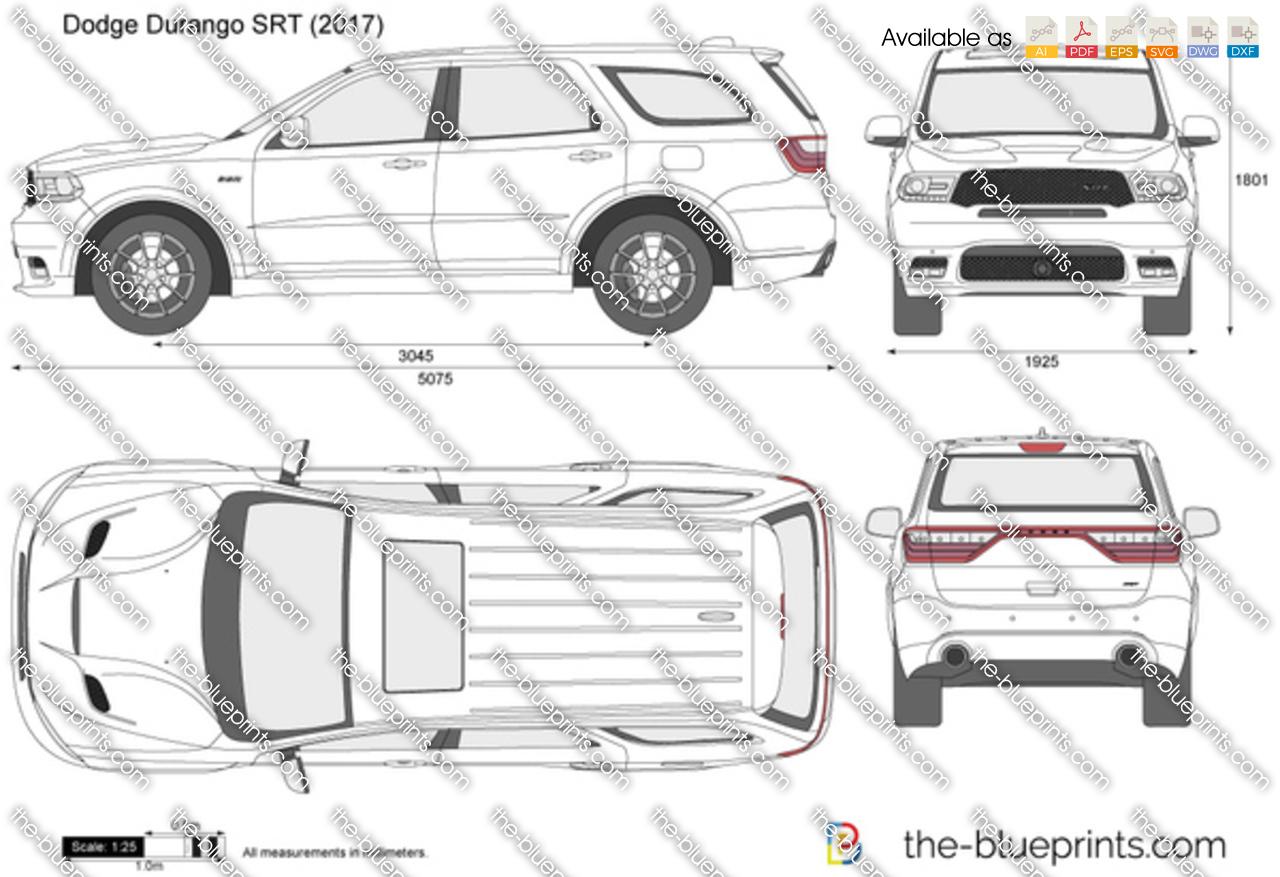 Dodge Durango Srt Vector Drawing