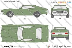 Ford Gran Torino Sport vector drawing