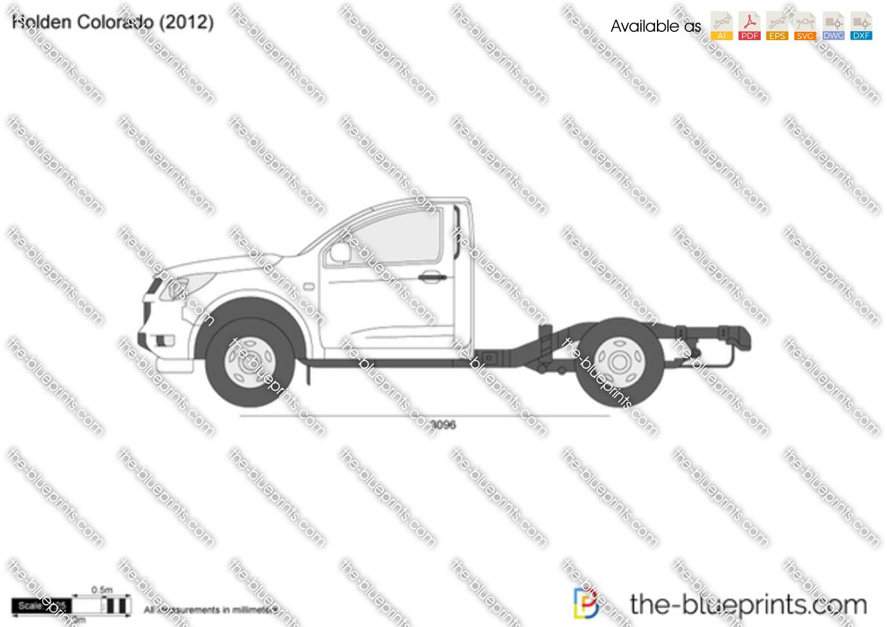 Holden Colorado Single Cab Vector Drawing