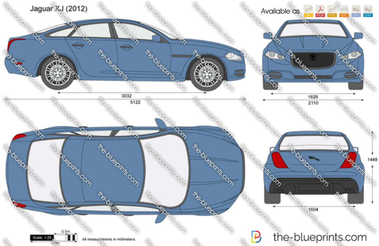 Jaguar XJ Vector Drawing