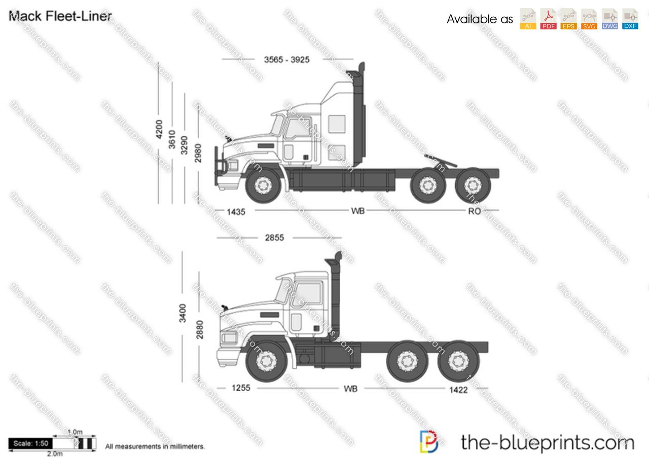 Mack Fleet Liner Vector Drawing