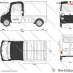Megavan Coffee Truck Vector Drawing
