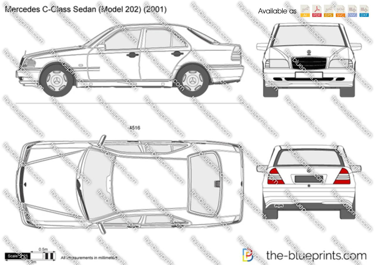 Mercedes Benz W202 Dimensions