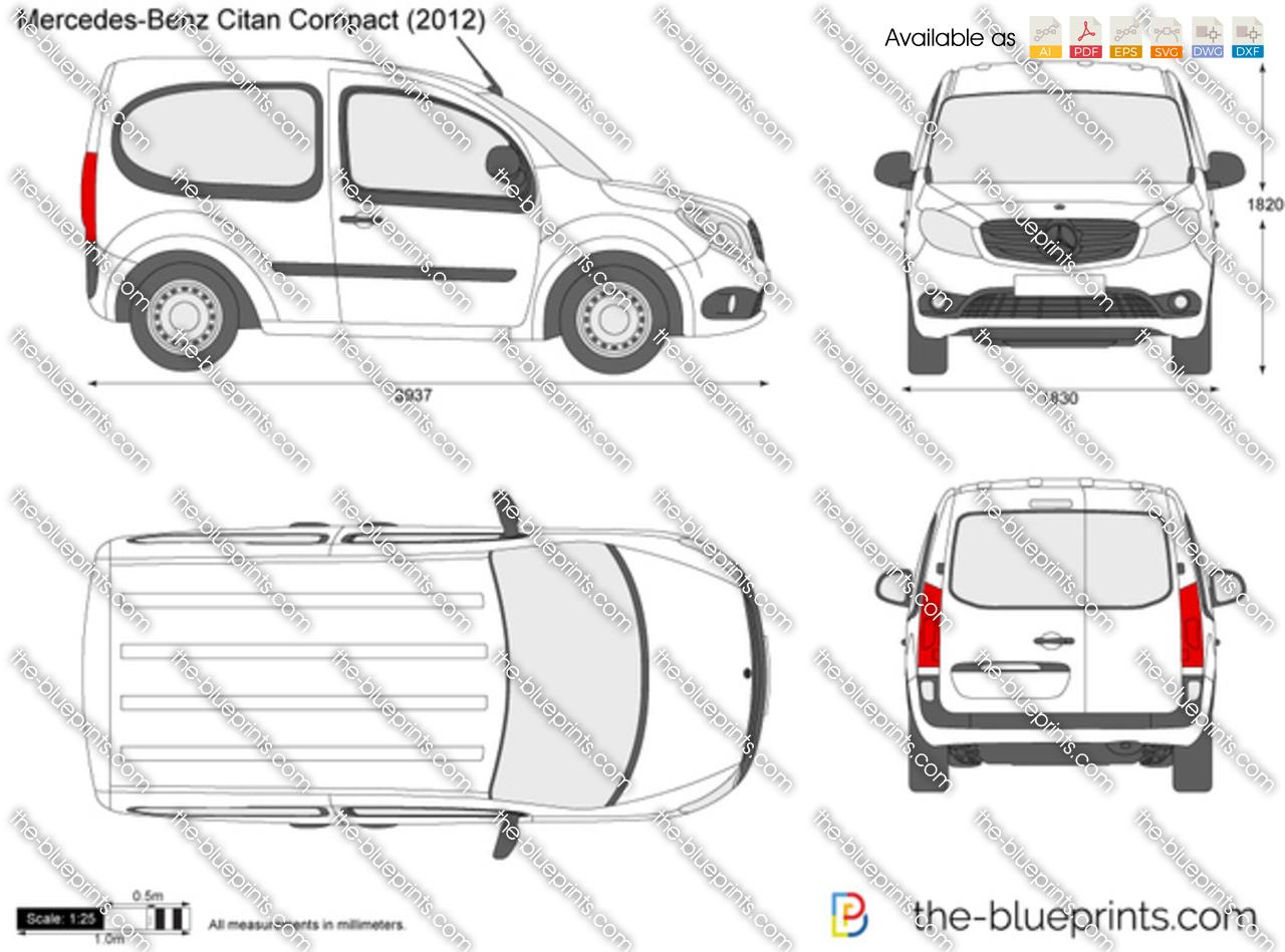 Mercedes Benz Citan Compact Vector Drawing