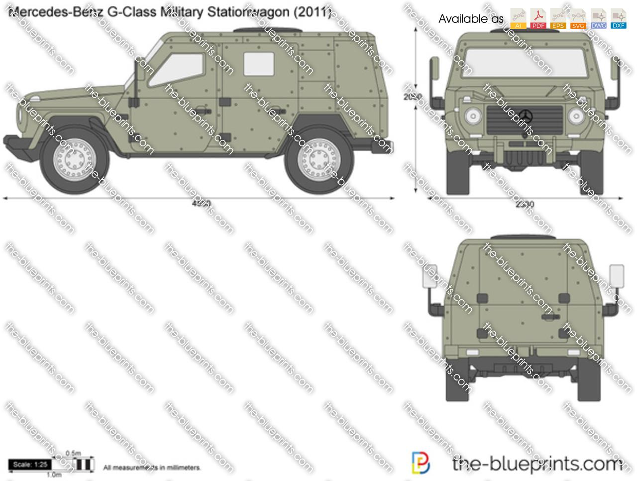 Mercedes Benz G Class Military Stationwagon W461 Vector