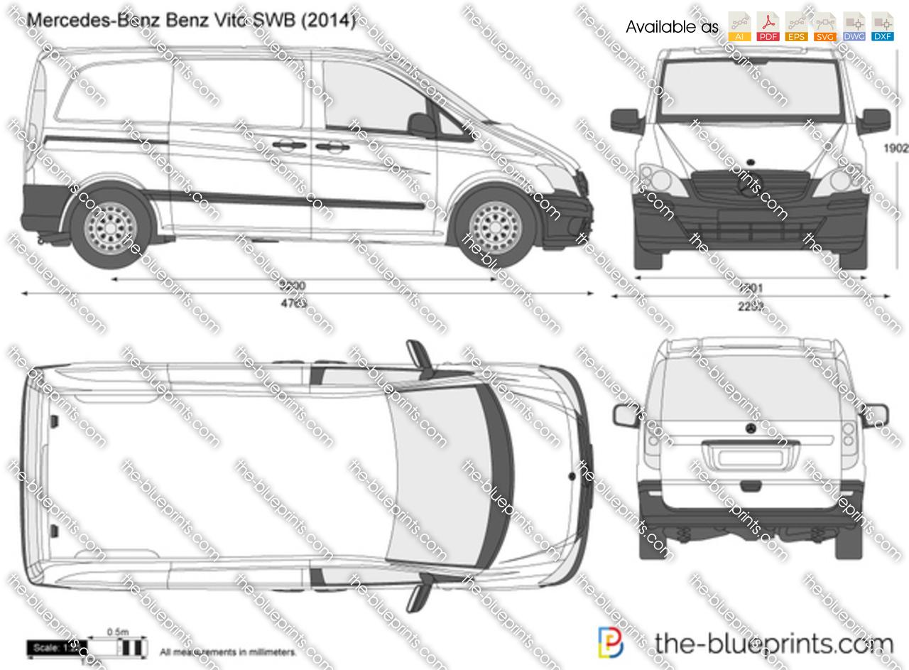 Mercedes Benz Vito Swb Vector Drawing
