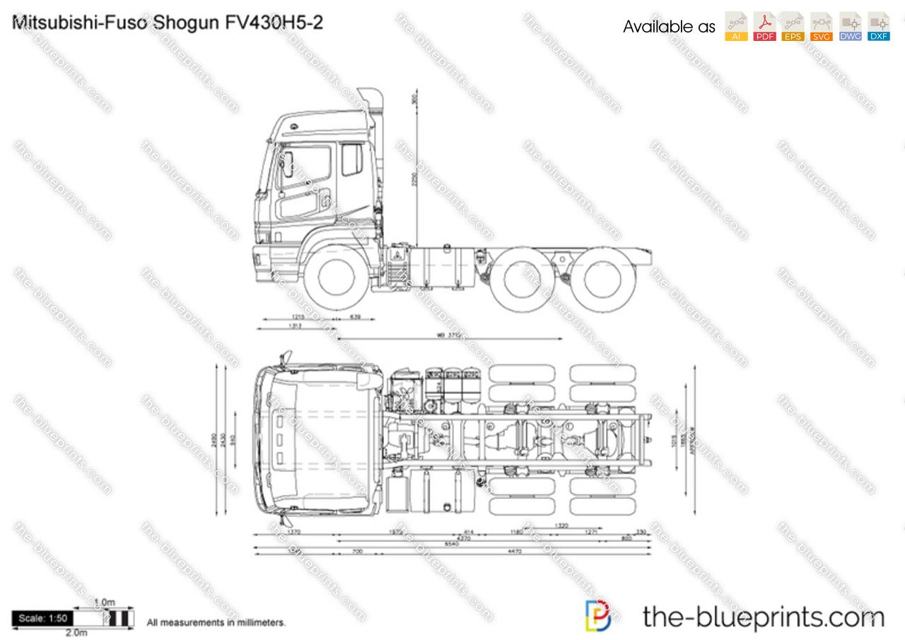 Mitsubishi Fuso Shogun Fv430h5 2 Vector Drawing