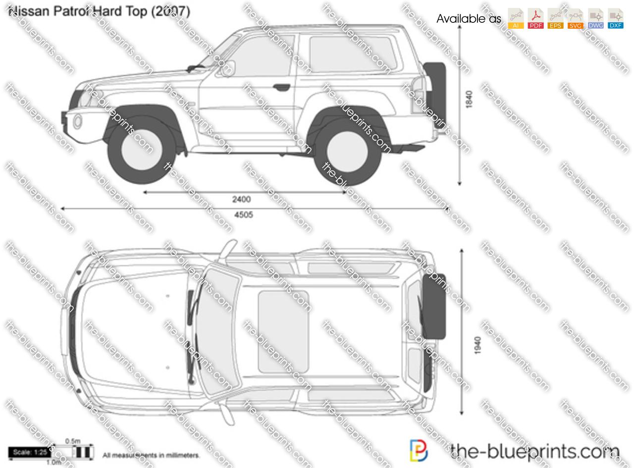 Nissan Patrol Hard Top Vector Drawing